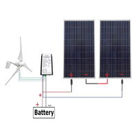 24 Volts 700 Watts Off Grid Solar & Wind Powered Hybrid System