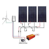 12-110V 850W Completed Solar Wind Hybrid System