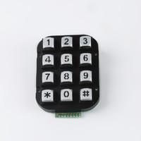 12 keys zinc alloy kiosk matrix telephone numeric keypad 4x3