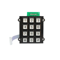 USB 12 keys metal numeric keypad for access control system