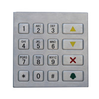 16 keys waterproof stainless steel keypad for fuel dispenser