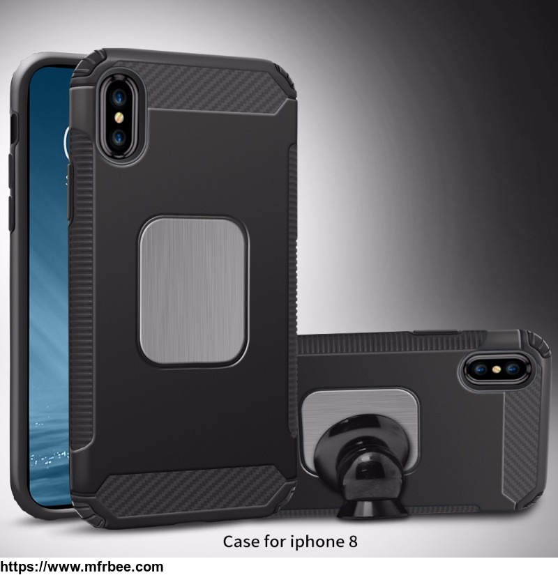 car_bracket_tpu_pc_phone_cases_for_iphone_x_with_magnetic_stickers
