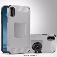 more images of Car bracket TPU PC phone cases for iphone x with magnetic stickers