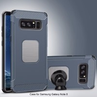 TPU PC 2 in 1 car bracket phone cases for samsung galaxy note 8