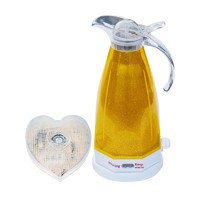 2.0L Yellow Electric Kettle with Voice and LED Flash Prompt