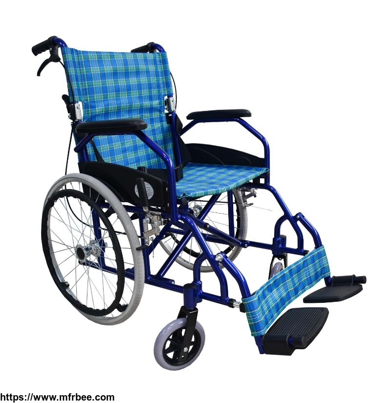 blue_best_folding_comfortable_lightweight_wheelchair_for_elderly_outdoor_transport