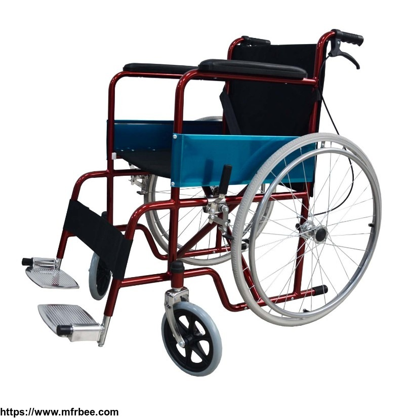 red_best_folding_comfortable_lightweight_wheelchair_for_elderly_outdoor_transport