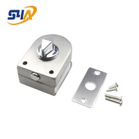 S4A Stainless Steel Glass Door Lock and Floor Latch Lock CB-97 Bolt Ground Lock for gate lock