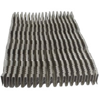Heat exchanger part aluminum cooling fins turbulator