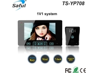 "Saful TS-YP708 7"" Wired Video Door Phone"
