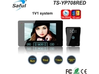 "Saful TS-YP708RED 7"" Video Door Phone With Recordi"