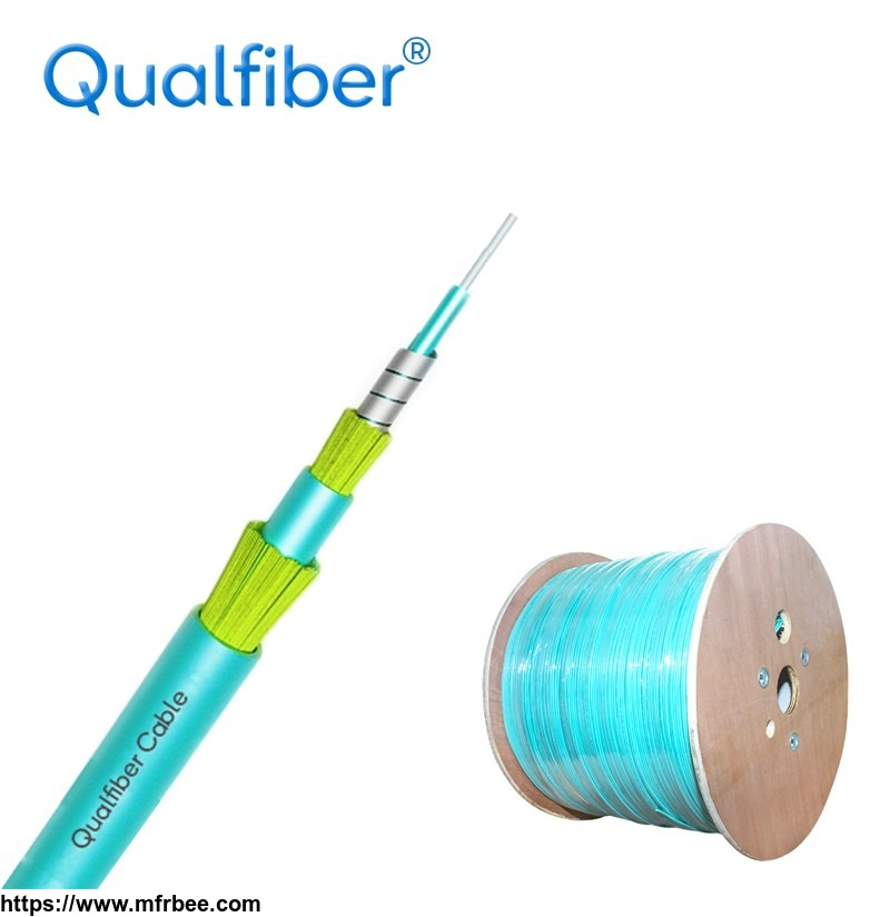 Double Sheath Spiral steel Simplex Fiber optic cable Indoor cable.
