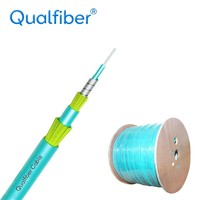 more images of Double Sheath Spiral steel Simplex Fiber optic cable Indoor cable.