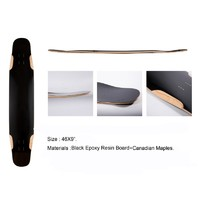 2019 high quality Canidian Maple & Black Epoxy Resin Board Longboard Deck
