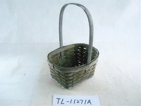 TL-11271 cheap wholesale eco-friendly woven wicker hanging storage basket