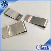 more images of Wholesale Custom Stainless Steel Brass Metal Blank Money Clip Hardware