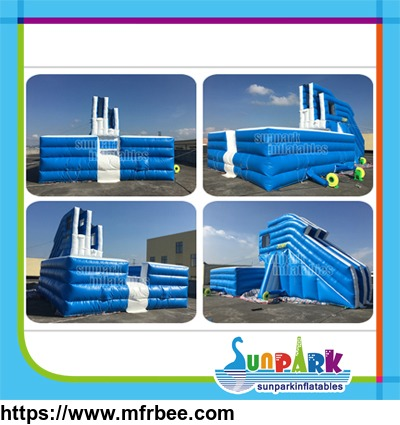 inflatable_freefall_stunt_jump_air_bag_with_safety_double_platform