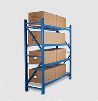 Portable adjustable plastic shelving unit system