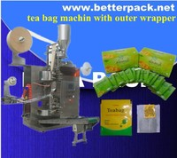 BT-18II Tea bag pack machine for tea bags with outer wrapper Private Label Tea and Herbal Tea Packaging