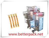 Automatic 4 lane liquid stick packing machine with piston filler