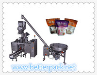 Automatic doy bag powder filling sealing packing machine with zipper opening device