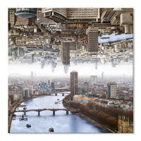more images of Canvas Print Double Landscape of London 32 x 32 Inch