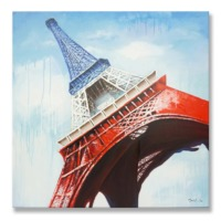 100% handmade - Eiffel Tower in French Color