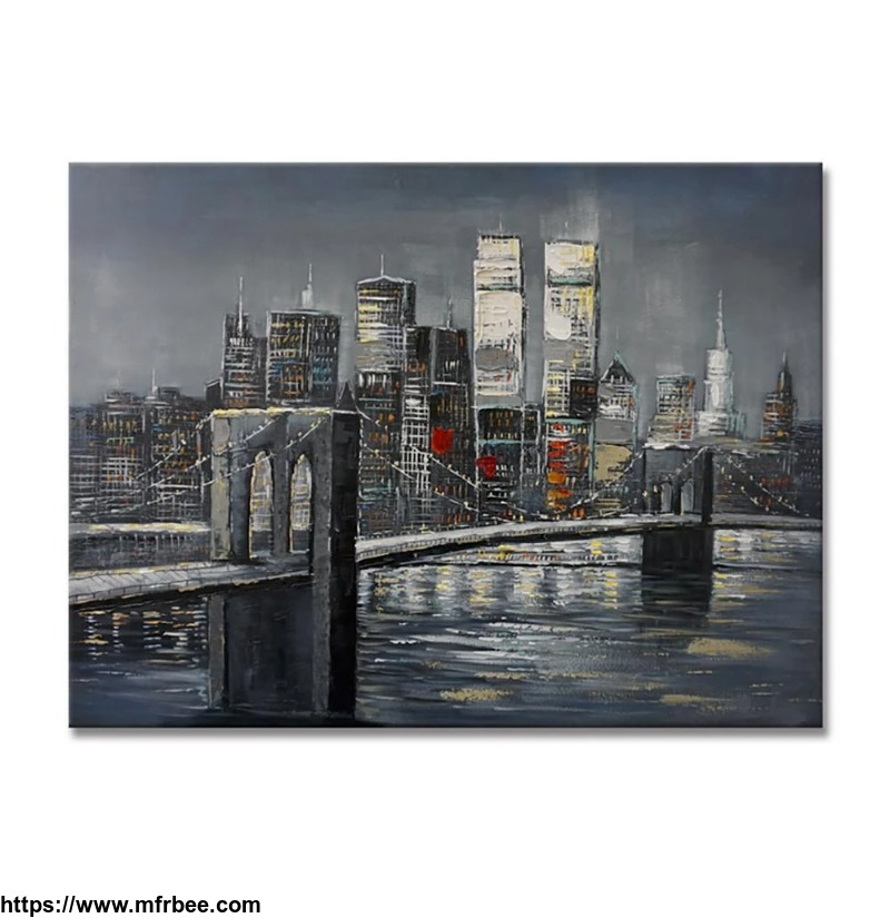 100_percentage_handmade_brooklyn_bridge_and_twin_towers_48x36inch_120x90cm_