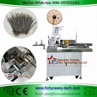 Fully Automatic Five Wires One-end Strip Crimp One-end Strip Twist Tinning Machine