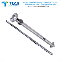 Hot sell screw and barrel from Ningbo Tizatech for plastic machine