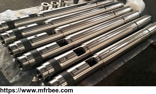 Screw barrel for injection molding machine for plastic rubber products