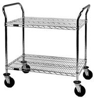 Wire shelving cart ideal for goods transport and storage