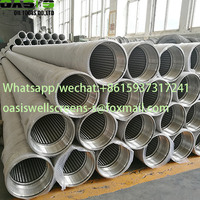 V- Wire Wrap Stainless Steel 316L Continuous Slot Water Well Screens Pipe