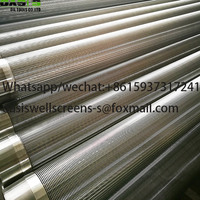 Stainless Steel Wire Wrapped Wedge Wire Screens Pipe