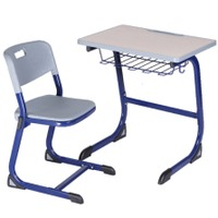 Cheap School Furniture Single Desk and Chair