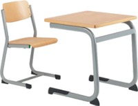 Modern School Furniture Student Single Desk and Chair Set