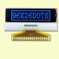 96*26 dots LCD display mode: FSTN, positive and transflective