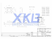 XKB brand hot sale 12*12 SMD touch button tact switch