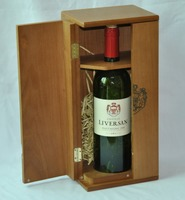 luxury high quality end carved wooden wine box