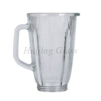 1.5L Home kitchen appliance replacement soda-lime striped blender glass jar