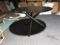 Minotti same item dining table solid tabletop dining table hardware dining table dining room dining table OEM factory