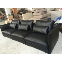 Morden design three seat sofa solid wood frame living room sofa full real leather sofa