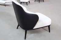 Minotti same design leisure chair full fabric leisure chair solid ash wood easy chair