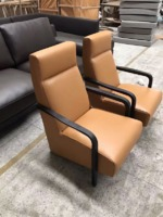 Minotti same item leisure chair solid wood and real leather leisure chair morden design easy chair