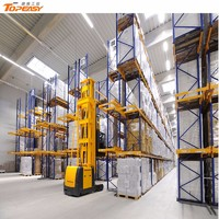 very narrow aisle for warehouse storage system