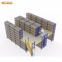 warehouse heavy duty mezzanine floor storage rack