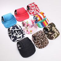 Adjustable Pet Dog Baseball Cap Hat With Ear Holes,Canva Baseball Pet Dog Hat