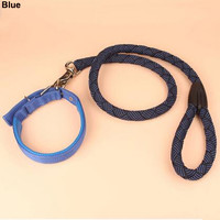 Big Dog Middle Dog Leash Rope and Collar set ,hot sale Nylon Big Dog Leash Rope Set