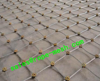 Slope protection rope mesh