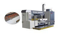 QH lead feeder printing slotter die cutter with folder gluer inline machine